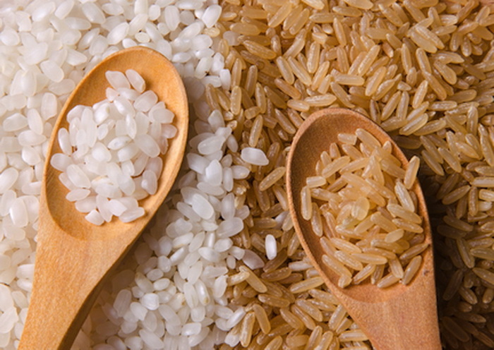 White-and-brown-rice